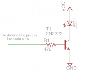NPN Transistor Driving IR LED