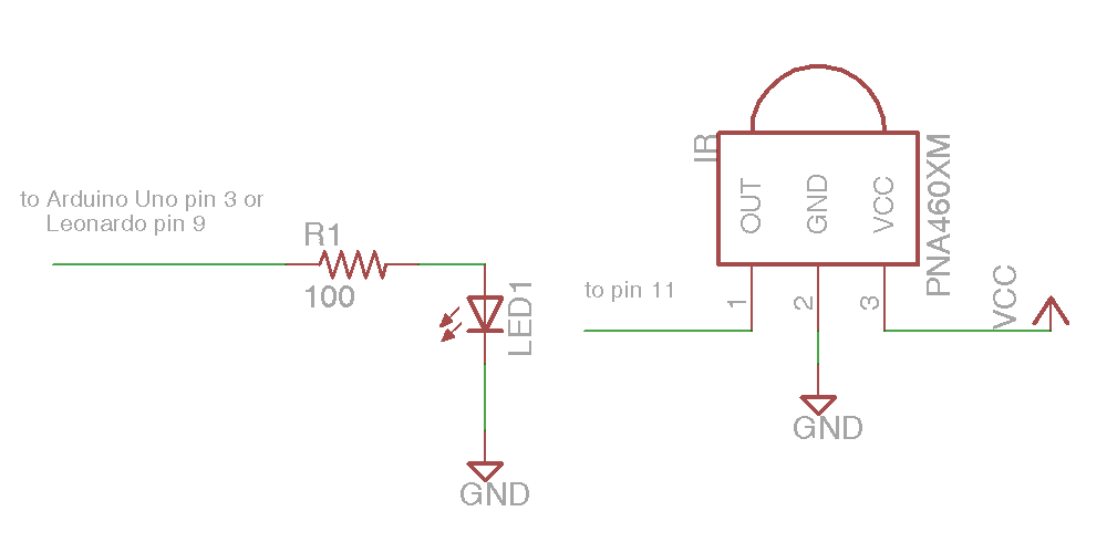 Simple IR I/O Schematic