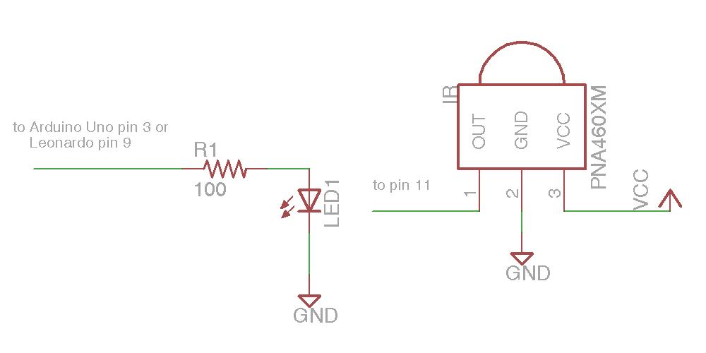 Simple IR I/O Schematic