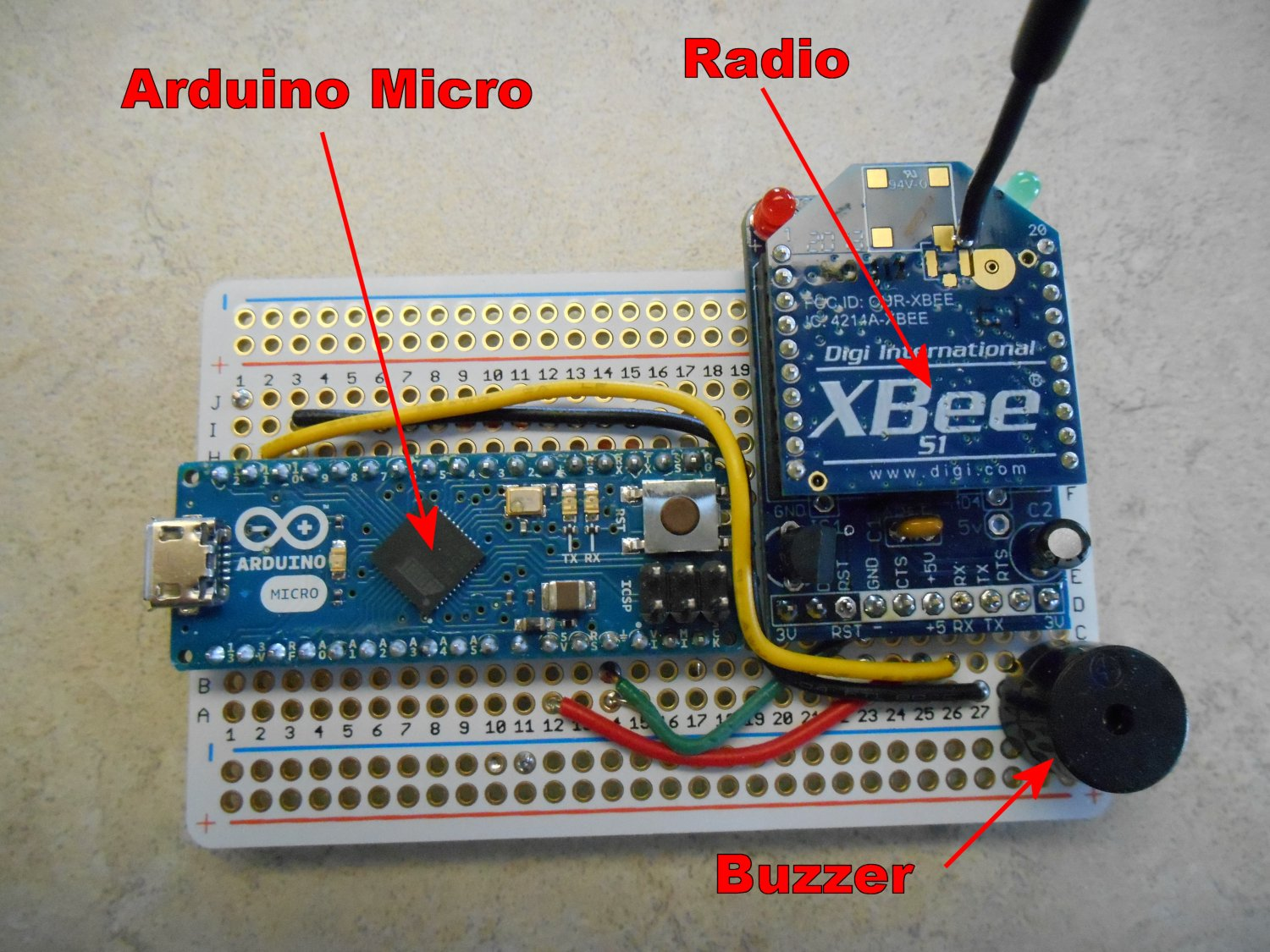 Receiver module with buzzer