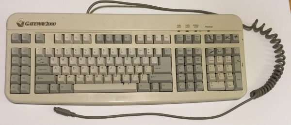 Vintage Gateway 2000 programmable 124 key keyboard available on eBay.