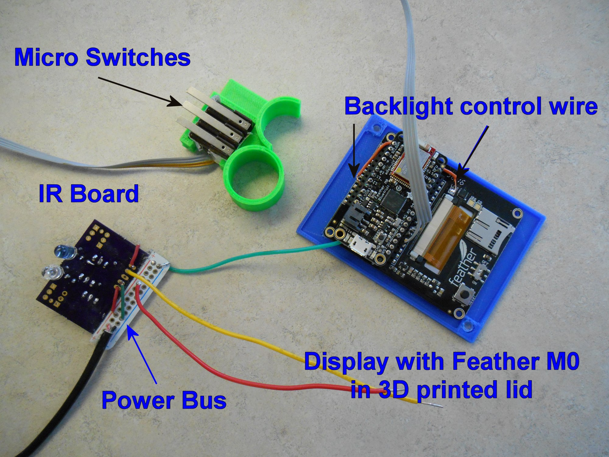 Assistive Technology Cys Tech Talk Wiring Garage Lights Moreover Tiny House With Screen Porch On Although The Feather Boards Have A Built In Battery Connector And Charging Circuit I Decided To Power Device From An External 5v